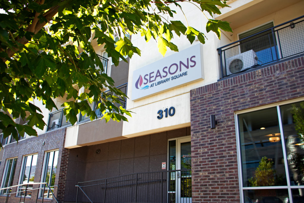 Seasons at Library Square Exterior