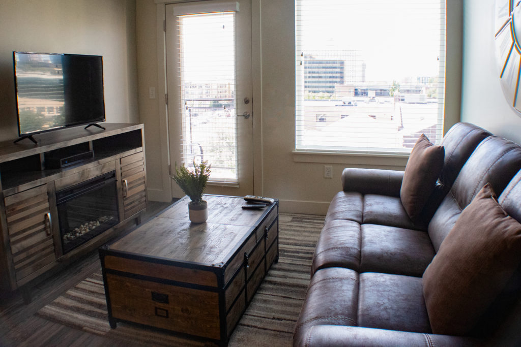Living Room in a 1bd 1ba apartment